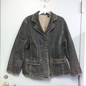 Liz Claiborne Blazer Denim Jacket 1X